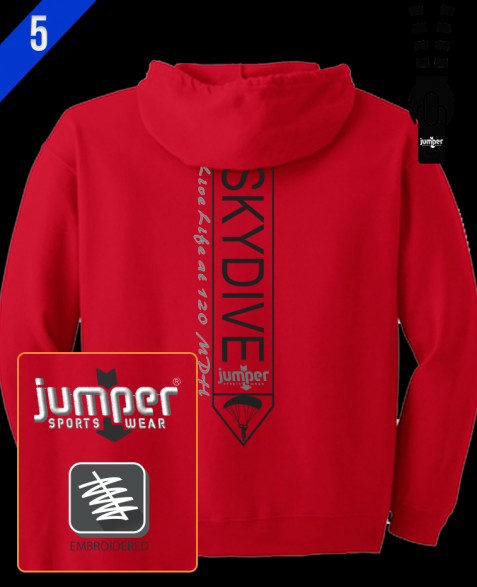 Jumper Vertical 0023 Custom Full-Zip Hoodie