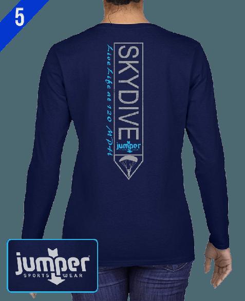 Jumper Vertical 0023 DTG Ladies' Custom Long Sleeve Shirt