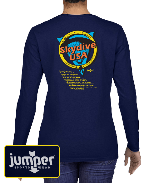 Jump to Know 9833  DTG Ladies' Custom Long Sleeve Shirt