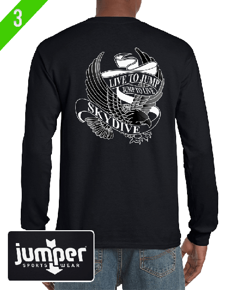 Live to Jump 0053 - Screen, Custom Long Sleeve Shirt