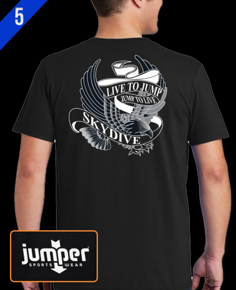 Live to Jump 0053 DTG Custom T-Shirt