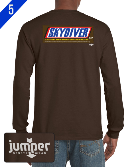 Snickers 0042  DTG Custom Long Sleeve Shirt