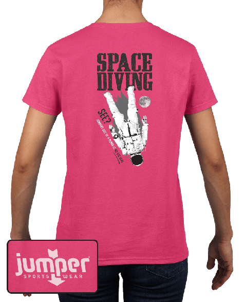 Space Diving 0067 Ladies' Custom T-Shirt
