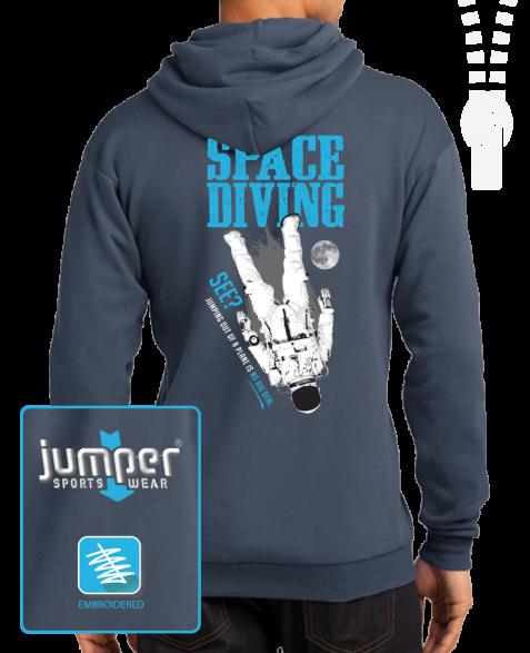 Space Diving 0067 Custom Full-Zip Hoodie