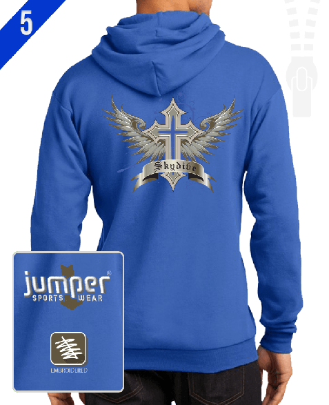 Winged Cross 1058 Custom Full-Zip Hoodie