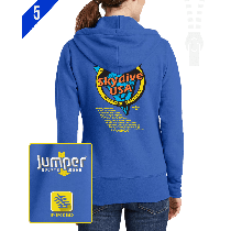 Jump to Know 9833 Ladies' Custom Full-Zip Hoodie