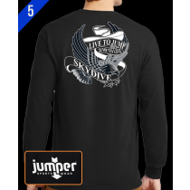 Live to Jump 0053 DTG Custom Long Sleeve Shirt