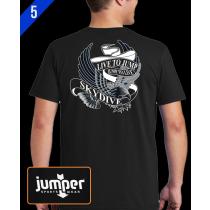 Live to Jump 0053 DTG Custom T-Shirt