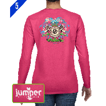 Skydiver Crest 0059 DTG Ladies' Custom Long Sleeve Shirt