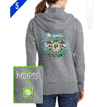 Skydiver Crest 0059 Ladies' Custom Full-Zip Hoodie