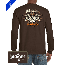 Skydiver Crest 0059  DTG Custom Long Sleeve Shirt