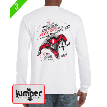Why Would II 0063 - Screen Print Custom Long Sleeve T-Shirt