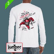 Why Would II 0063 - Screen Print Custom Long Sleeve T-Shirt