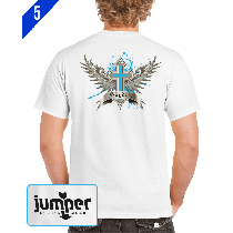 Winged Cross 1058 DTG Custom T-Shirt
