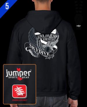 Live to Jump 0053 Custom Full-Zip Hoodie