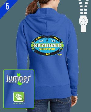 Survivor 0020 Ladies' Custom Full-Zip Hoodie